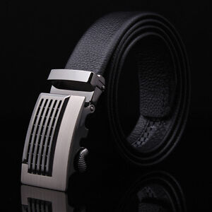 Leather-Automatic-Buckle-Men-039-s-Fashion-Casual-Waist-Strap-Belts-Waistband-New
