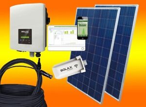 5KW / 5000Watt Solax Photovoltaikanlage PV Solar Anlage komplett Set 3. Phasig