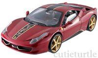 Hot Wheels Elite Ferrari 458 Italia China Limited Edition 1:18 Diecast Red Bck12