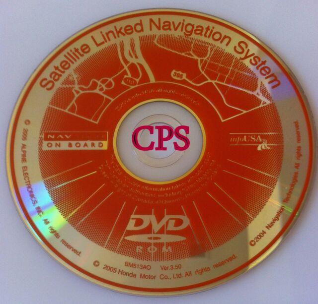 Genuine Acura Honda Orange Map 2003 MDX Navigation DVD 3