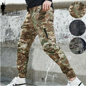 Mens-Tactical-Military-Army-Cargo-Outdoor-Waterproof-Camouflage-Casual-Pants