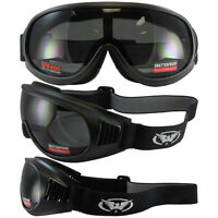 Global Vision Trump One-piece Smoke Lens Matte Black Riding Motorcycle Goggles