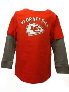 #1 Draft Pick Kansas City Chiefs Enfant Bébé 12m-18m-24m-2t-3t-4t-5t Chemise Dessins Attrayants;