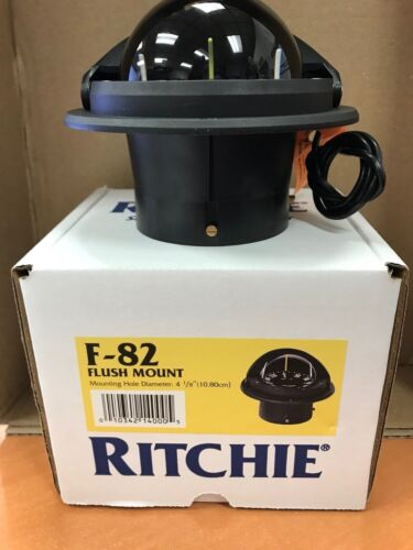 RITCHIE VOYAGER COMPASS MODEL 128-F82 FLUSH MOUNT BLACK