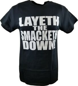 WWE The Rock Layeth The Smacketh Down Retro T-Shirt
