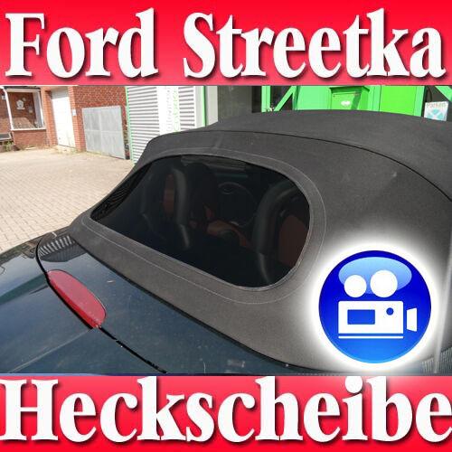 Ford Streetka Cabrio Luna Trasera Negro con Cremallera Producto Nuevo como Orig