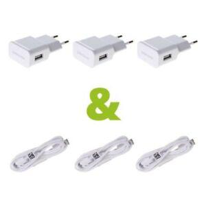 3x-Samsung-ETA-U90EWE-Netzteil-Ladegeraet-weiss-2000mA-mit-1m-Samsung-Kabel