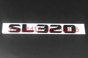 Chrome Number Letters Trunk Emblem Badge Sticker for Mercedes Benz SL320