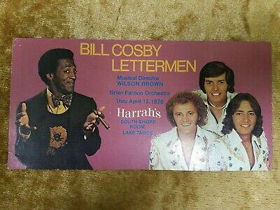 """Photographs Bill Cosby 4""""x8"""" Autographed Signed Picture Harrah's Casino April 15 1976 Autographs-original"""