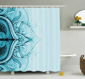 Image Is Loading Mandala Shower Curtain Ethnic Ornamental Lace Print For