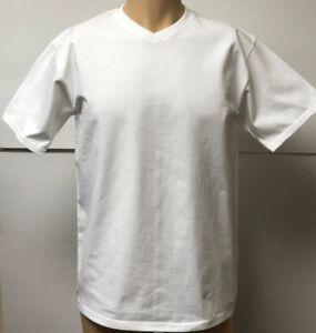 2-Fruit-Of-The-Loom-XLarge-14-16-V-Neck-Boys-Girls-White-100-Cotton-T-Shirt