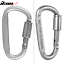 Camping-Outdoor-Aluminum-Alloy-D-ring-Screw-Lock-Buckle-Carabiner-1pc thumbnail 3