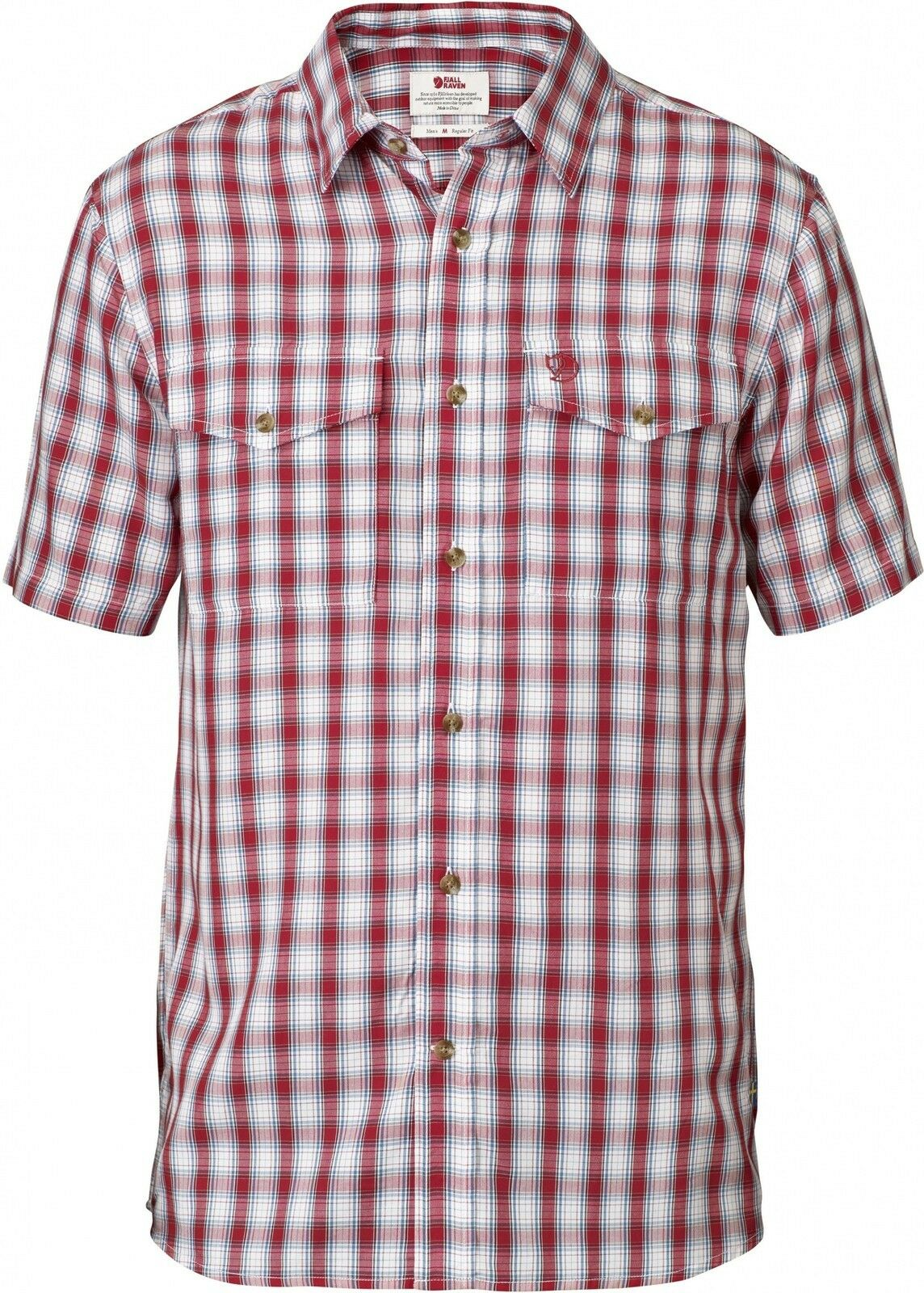 Fjäll Räven Abisko Cool Shirt Ss Men, Short-Sleeved Men's Shirt, Red, S