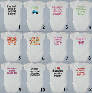 New funny personalised babytoddler vest great newborn gift image is loading new funny personalised baby toddler vest great newborn negle Images