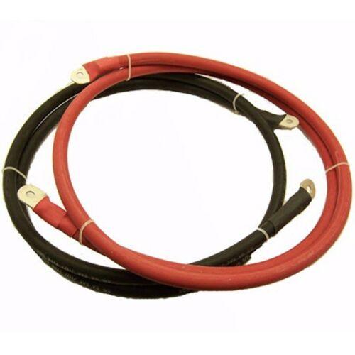 LUGGED battery wure cable set 3ft red /& black positive negative 2 gauge GA GAUGE