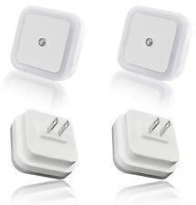 4 Pack 0.5W LED White LED Night Light Plug in with Auto Sensor Light Control