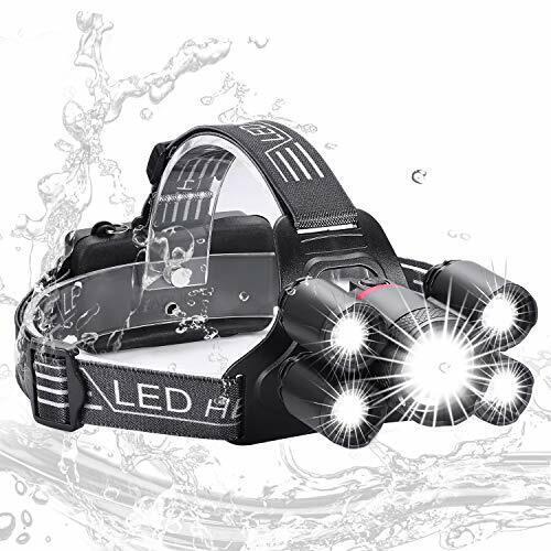 Super Bright 5000 Lumens Rechargeable Headlamp 4 Modes, Zukvye LED Head Torch