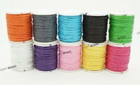 1mm Waxed Cotton Braided Cord Macrame Beading Bracelet String Assorted 10 Spools
