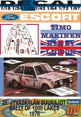DECAL 1//43 FORD ESCORT RS 1800 MKII A.VATANEN 1000 LAKES R.1978 DnF 01