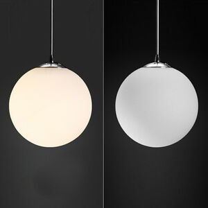 203040cm glass globe round white ceiling pendant light shade image is loading 20 30 40cm glass globe round white ceiling mozeypictures Image collections