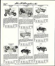 1960 ADVERT Garton Farm Tractor Pedal Car BMC Trac Speedster Scat Speed Mark V