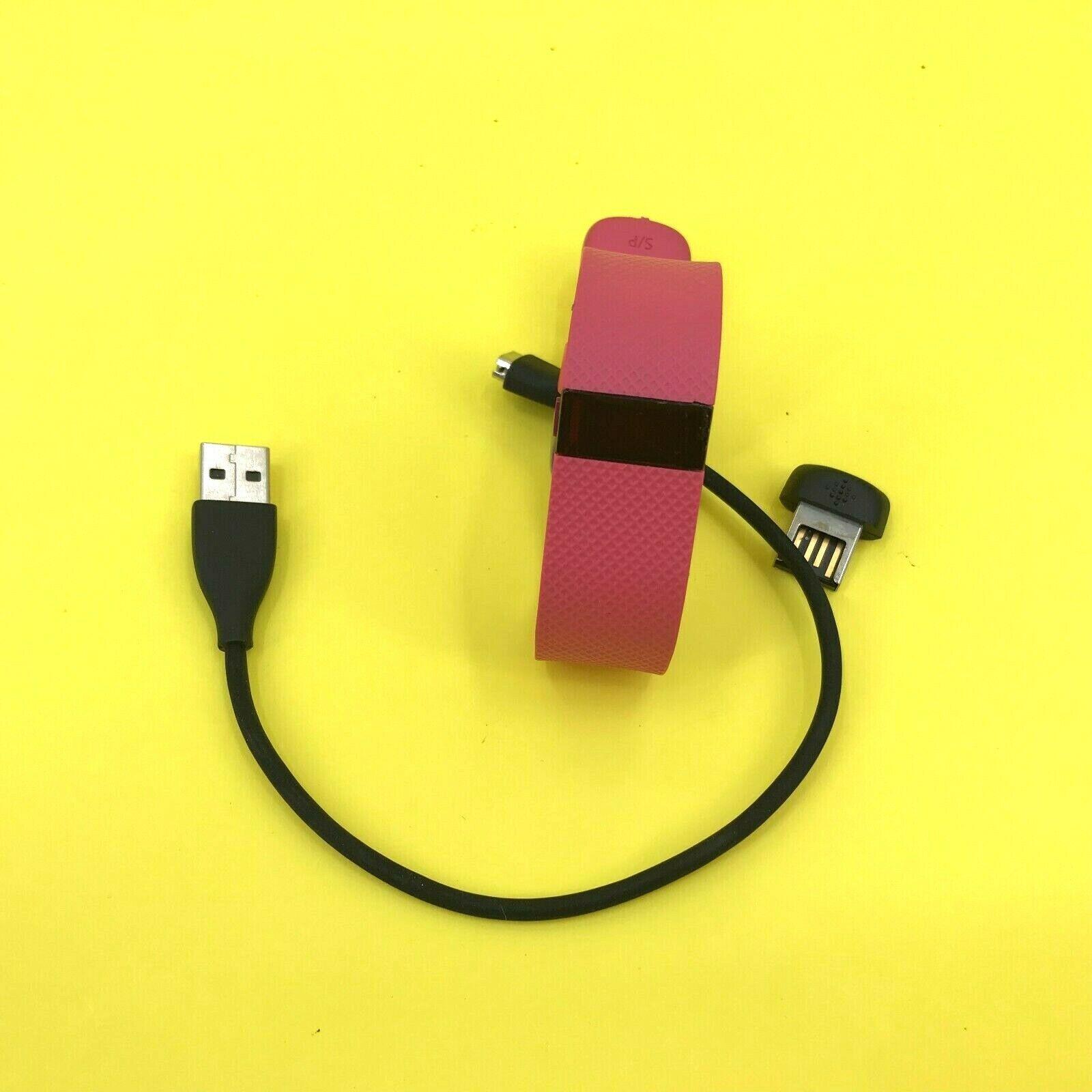 Fitbit Heart Rate Fitness Tracker S/P -Model Surge Pink #0101 Z65 B166 b166 fitbit fitness heart pink rate surge tracker z65