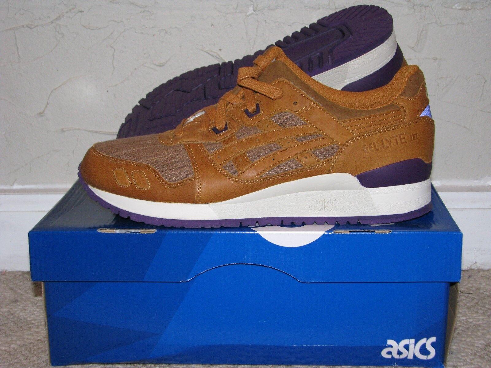 Asics Gel Lyte III 3 'Kakishibu' Tan / Purple Mens Size 10 DS NEW! HN502-7171
