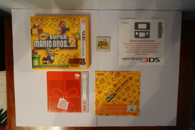 New Super Mario Bros 2 Nintendo 3DS  game videogame 2DS spiel EUR box PAL 2012