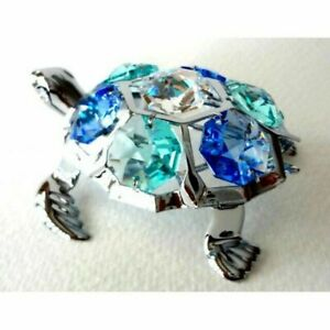 Crystocraft-Turtle-Ornament-with-Swarovski-Elements-Stunning-Nautical-Figurine
