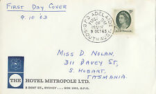 Stamp Australia 5d green QE2 on Hotel Metropole Sydney cover first day issue