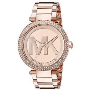 Details about Women's Watch Michael Kors MK5865 'Parker' Dress Watches Rose Gold Tone MK Logo