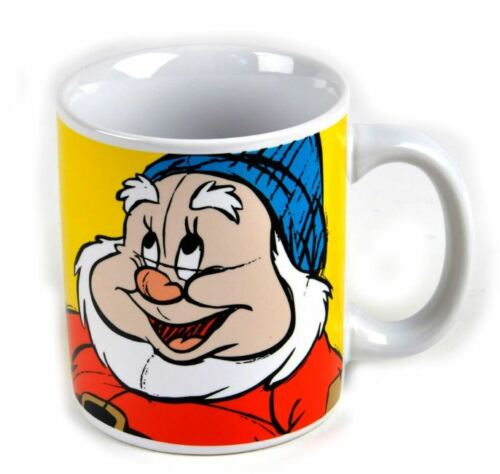 OFFICIAL DISNEY SNOW WHITE THE SEVEN DWARFS HAPPY MUG COFFEE CUP NEW IN GIFT BOX