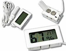 Mini Digital LCD Thermometer Humidity Temperature Hygrometer Probe Sensor white