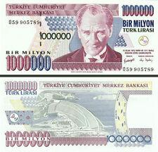 TURKEY 1000000 1 MILLION LIRA 1996 * O * SERIAL UNC 20 PCS CONSECUTIVE LOT P.213