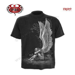 Spiral-Direct-ENSLAVED-Angel-Camiseta-Motociclista-Tatuaje-Gotico-Pentaculo