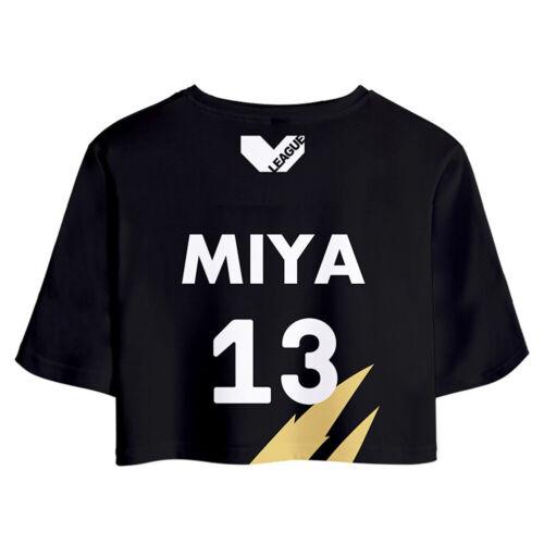 MSBY Miya Atsumu No13 Cosplay Costume Crop Top Shorts Two Piece Sets Haikyuu!