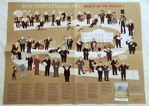 NEW-1600-Pennsylvania-Ave-Who-039-s-In-The-House-US-Presidents-Illustrated-Poster