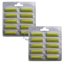 20 x Duftstäbchen Gelb >Zitrone< für alle Staubsauger / Vorwerk / AEG (6015)