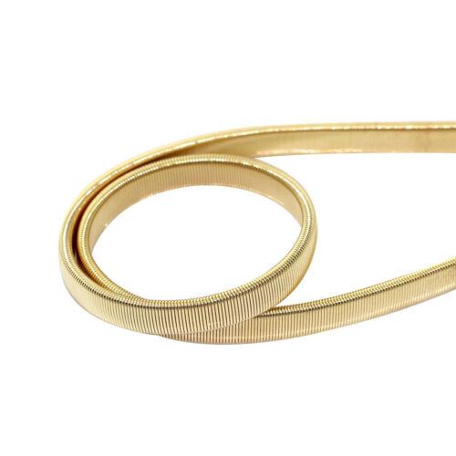 Damen Metall Gürtel Gold Dehnbar Mädchen Mode Partykleidung Anhänger Bund