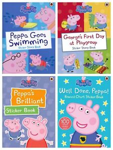 Details About Peppa Pig Stickers Book 4 Different Designs Activity Reward Chart Sticker Book