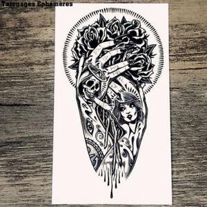 Tatouage Ephemere Temporaire Bras Gothique Ebay