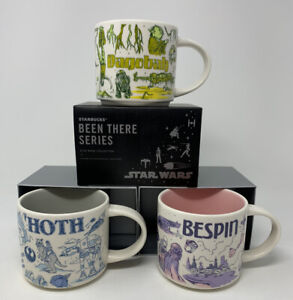 Disney-Star-Wars-Starbucks-Been-There-Series-Mugs-SET-OF-3-Hoth-Bespin-Dagobah