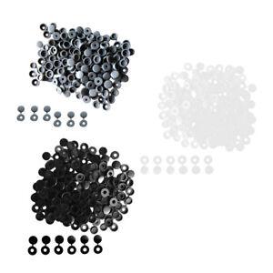 100Pcs Black Plastic Hinged Screw Cover Fold Flip Snap Cap for M3//4//5 Screws
