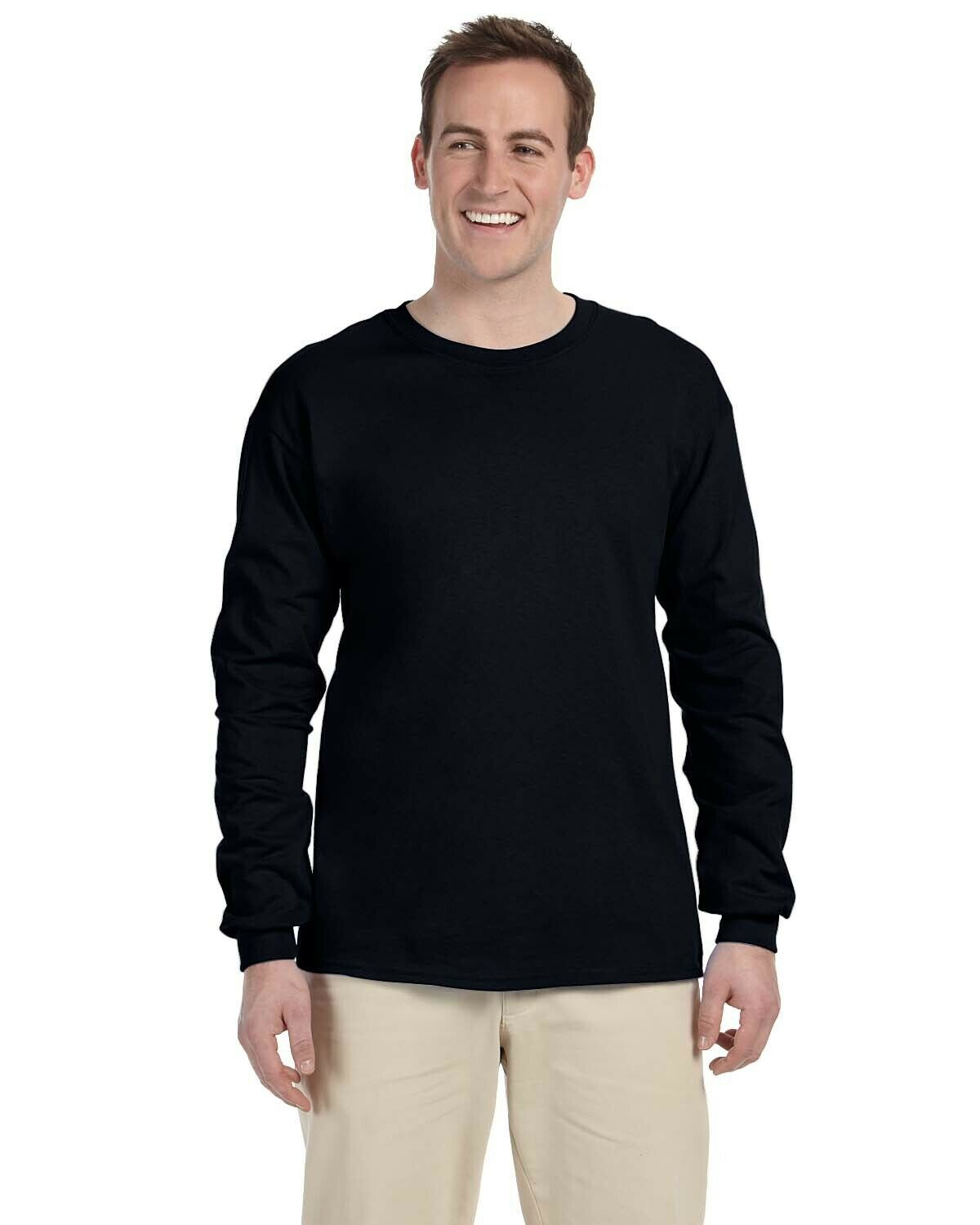 Long Sleeve 100/% Combed Cotton Four Colours Snickers 2402 T-Shirt