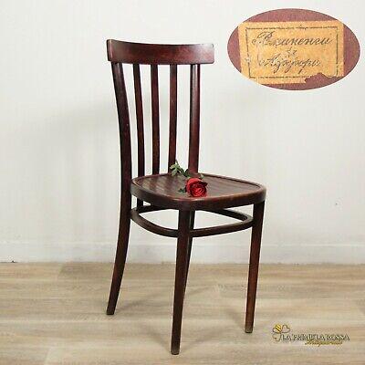 Sedia Thonet vintage anni 50 seduta in legno antica antiche per ufficio | eBay
