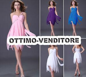 cerimonia monospalla da festa party donna Vestito abito damigella HP7xqITwST