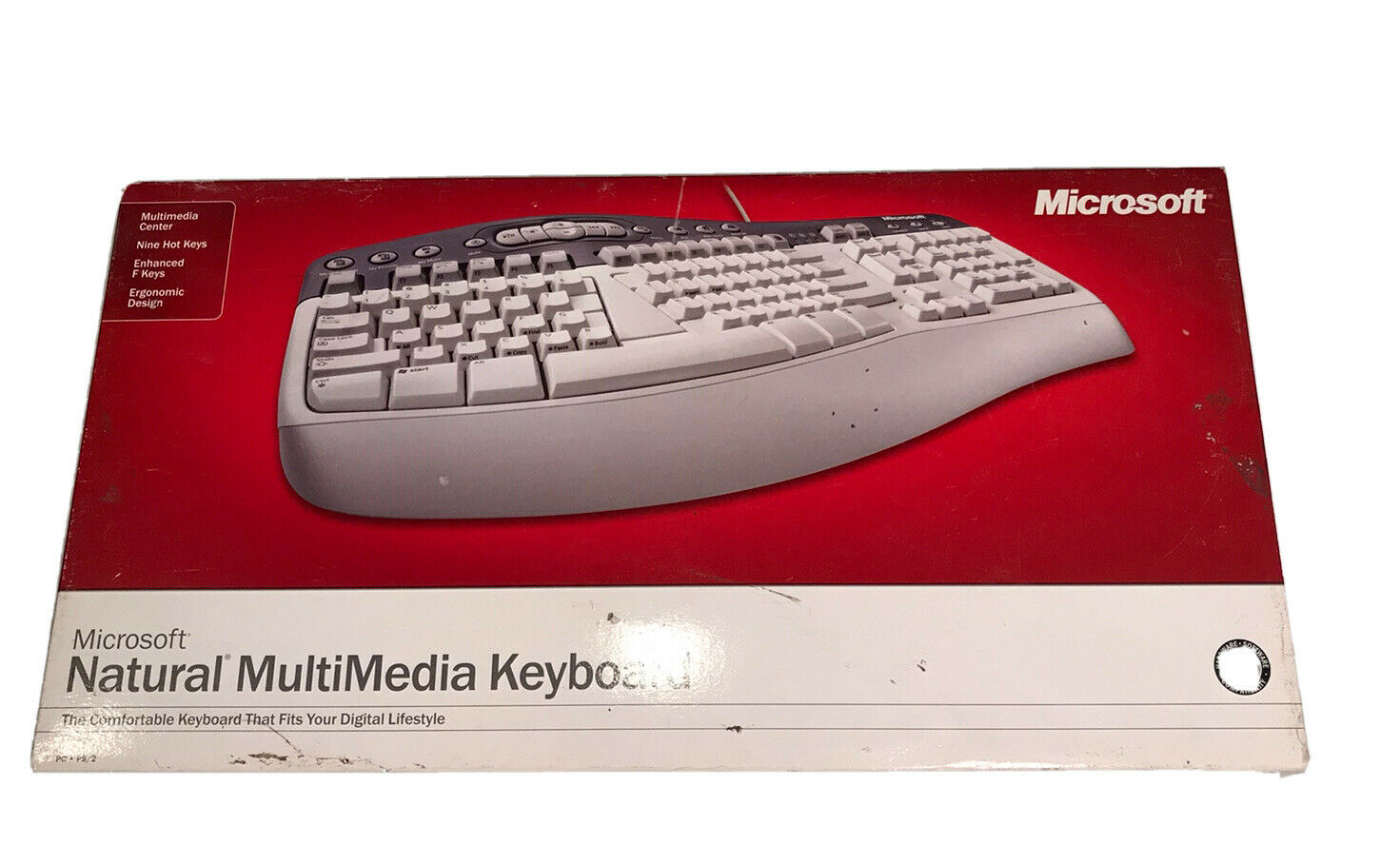 Microsoft Keyboard Natural Multimedia Ergonomic Design~New & Factory Sealed. Buy it now for 52.00