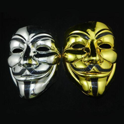 Halloween Masquerade Face Mask V For Vendetta Guy Fawkes Fancy Dress Costume New