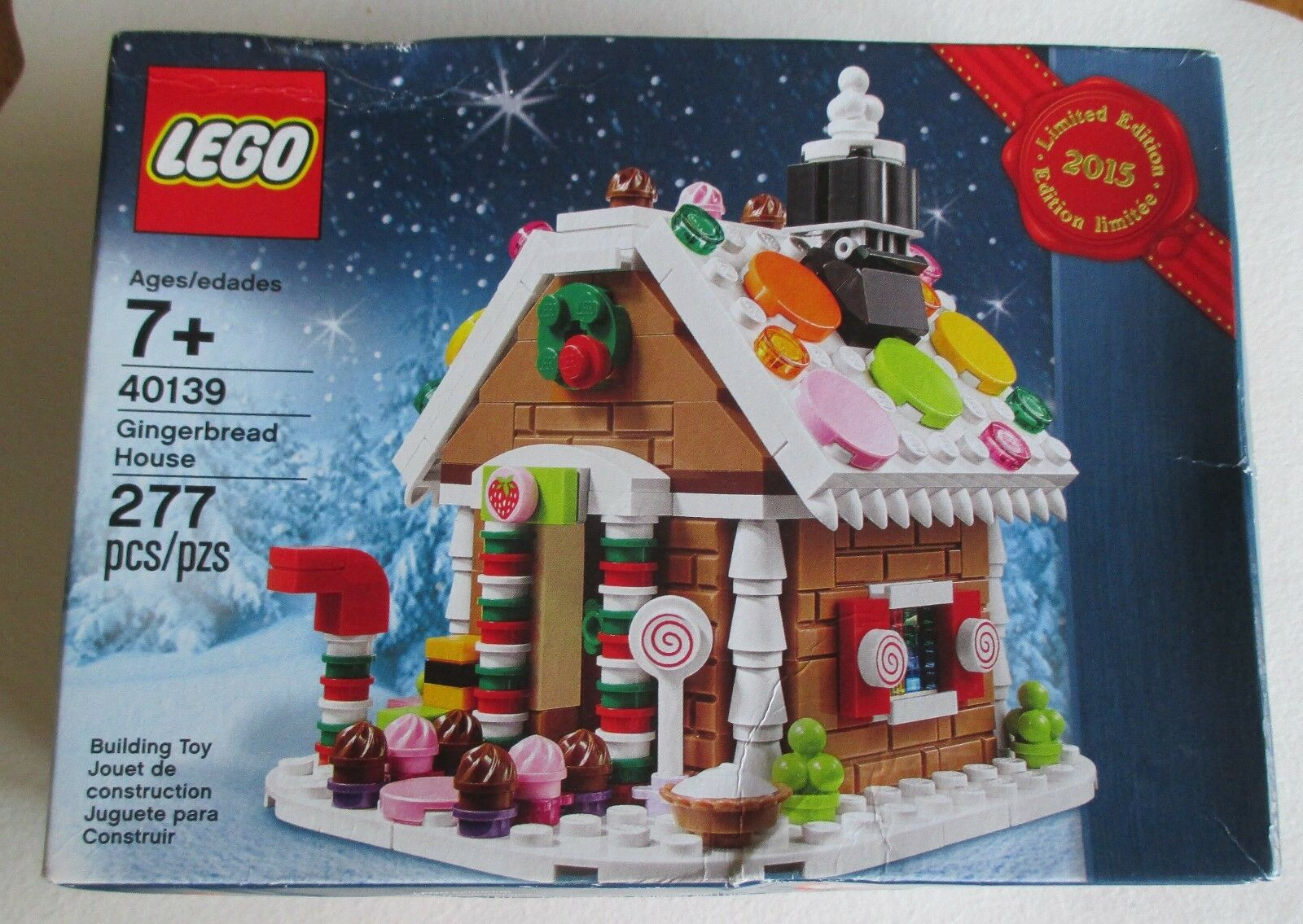 LEGO 2015 GINGERBREAD HOUSE #40139. LIMITED EDITION. 277 PIECES. NIB (4696)