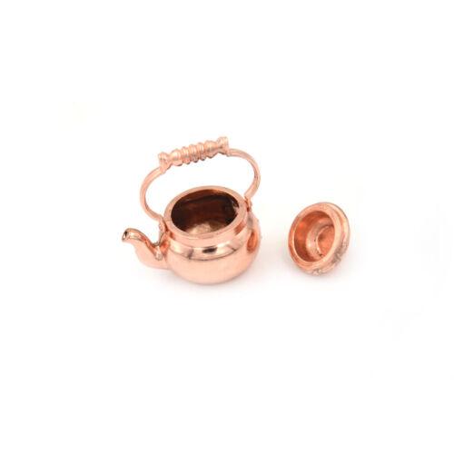 1PCS 1:12 Dollhouse Miniature Copper Tea Kettle Tea Pot Classic To LK